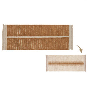 Lorena Canals – Reversible Washable Rug – Duotte Toffee – 80 x 230 cm